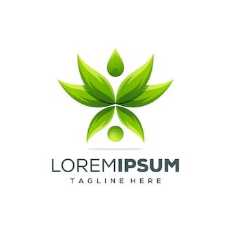 Szablon logo piękne lotosu