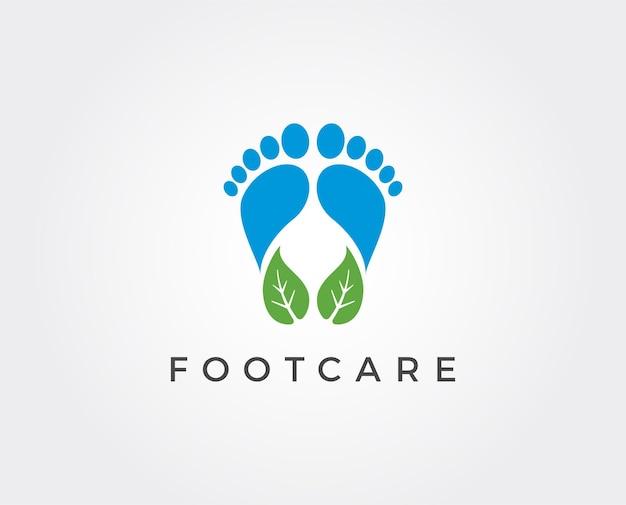 Szablon logo pielęgnacji stóp
