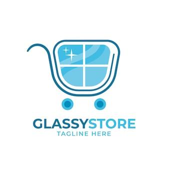 Szablon logo płaskiego szkła