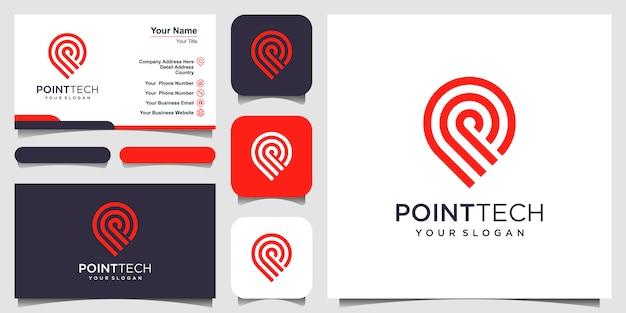 Szablon logo point tech