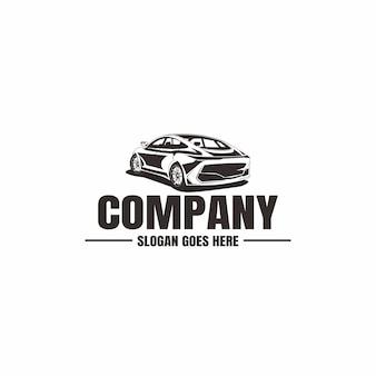 Szablon logo pojazdu. ikona samochodu dla biznesu. wynajem, naprawa, garaż sklepowy.