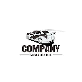 Szablon logo pojazdu. ikona samochodu do projektowania biznesowego. wynajem, naprawa, koncepcja garażu sklepowego.