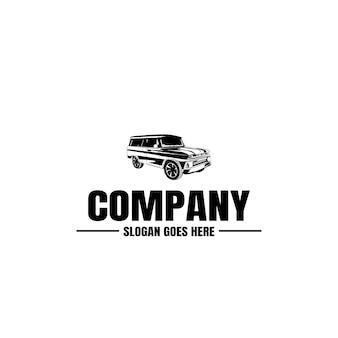 Szablon logo pojazdu. ikona samochodu. wynajem, naprawa, garaż sklepowy.