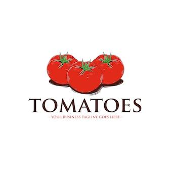 Szablon logo pomidorów