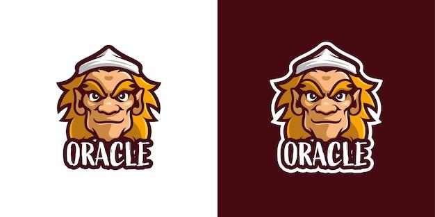 Szablon logo postaci maskotki potwora oracle