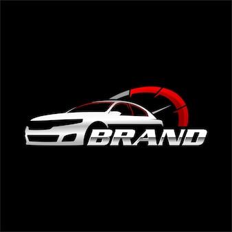 Szablon logo prędkości samochodu