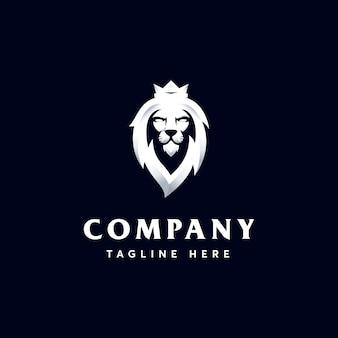 Szablon logo premium head lion