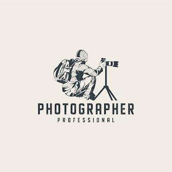 Szablon logo profesjonalnego fotografa
