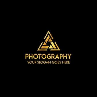 Szablon logo profesjonalnej fotografii triangel
