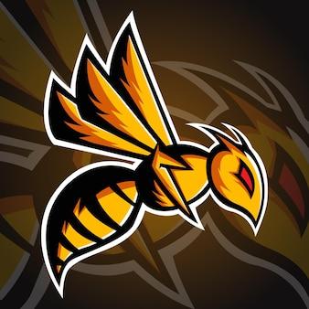 Szablon logo pszczoły, logo esport