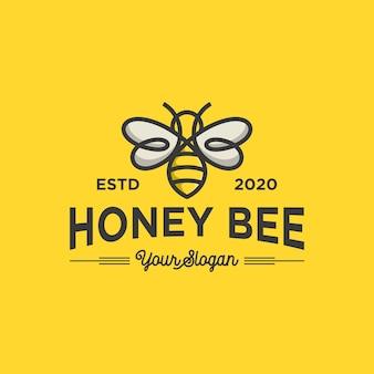 Szablon logo pszczoły miodnej
