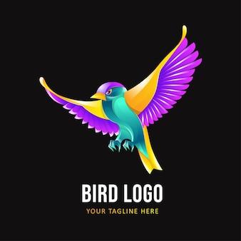 Szablon logo ptaka. kolorowe logo zwierząt