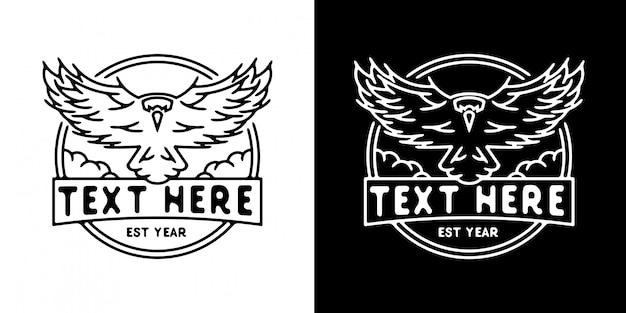 Szablon logo ptaka monoline