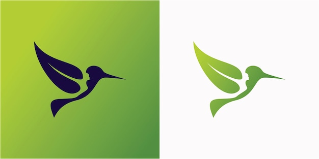 Szablon logo ptaka przyrody