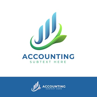 Szablon logo rachunkowości gradientu