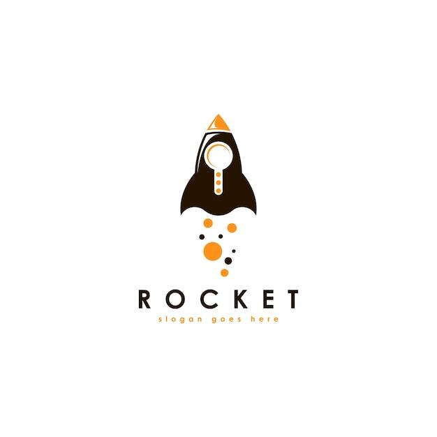 Szablon logo rakiety