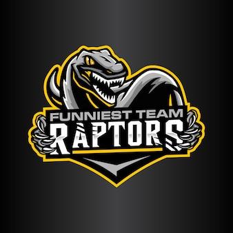 Szablon logo raptor