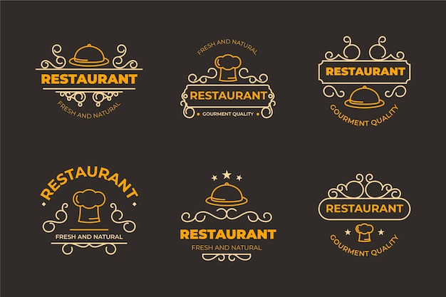 Szablon logo restauracji retro