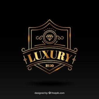 Szablon logo rocznika i luksusu