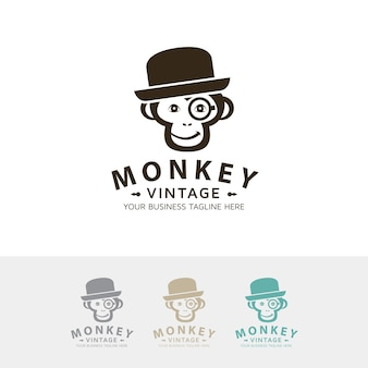Szablon logo rocznika małpa