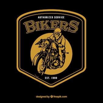 Szablon logo rocznika motocykl
