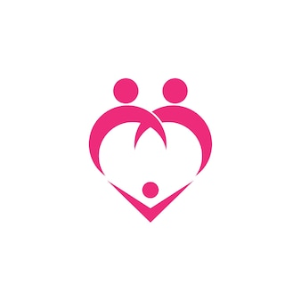 Szablon logo rodziny miłości