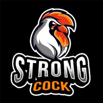 Szablon logo rooster esport