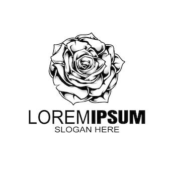 Szablon logo rose