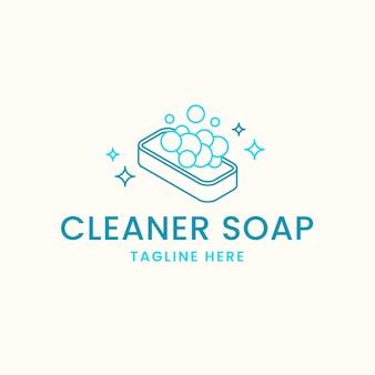 Szablon logo rysowane mydło
