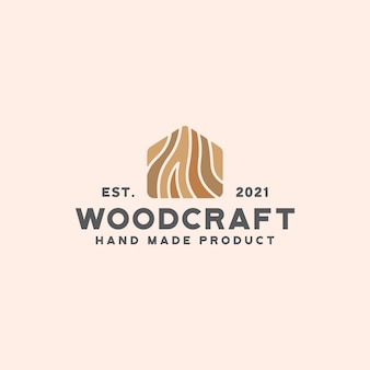 Szablon logo rzemiosła drewna