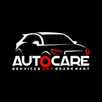 Szablon logo samochodowej pielęgnacji samochodów nowoczesny samochód sportowy wektor