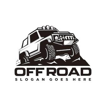 Szablon Logo Samochodu Drogowego Premium Wektorów