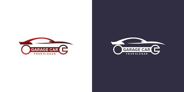 Szablon logo samochodu garażowego