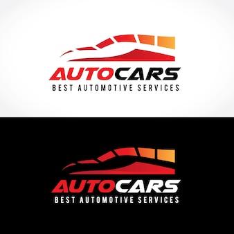 Szablon logo samochodu i samochodu.