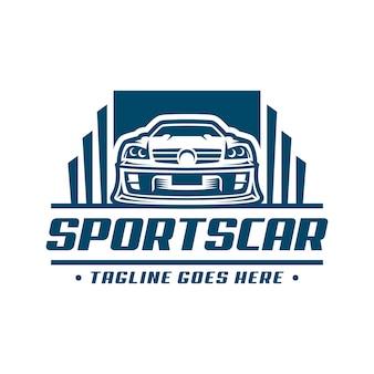 Szablon logo samochodu sportowego lub ikona