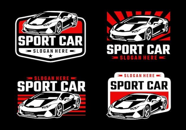 Szablon logo samochodu sportowego
