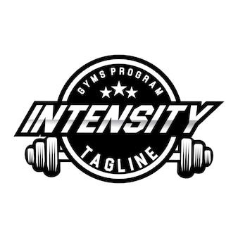 szablon logo siłowni