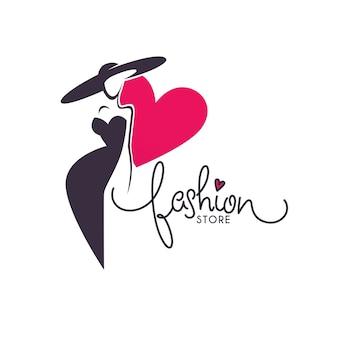 Szablon logo sklepu mody