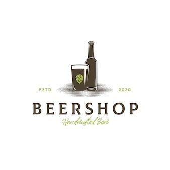 Szablon logo sklepu piwa