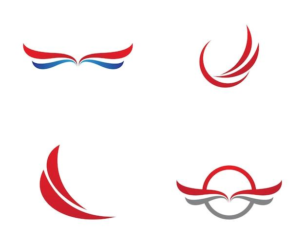 Szablon logo skrzydła sokoła