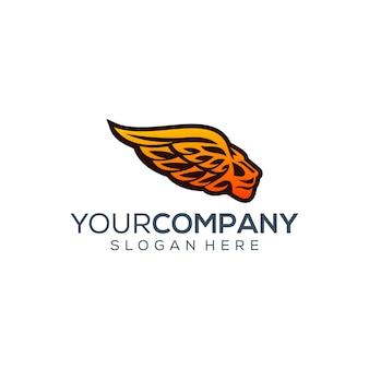 Szablon logo skrzydła