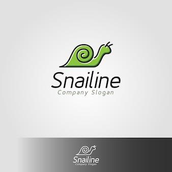 Szablon logo ślimaka