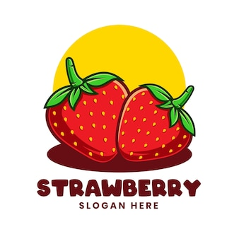 Szablon logo słodkie truskawki