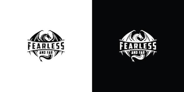 Szablon logo smoka premium wektor