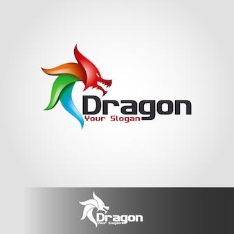 Szablon logo smoka