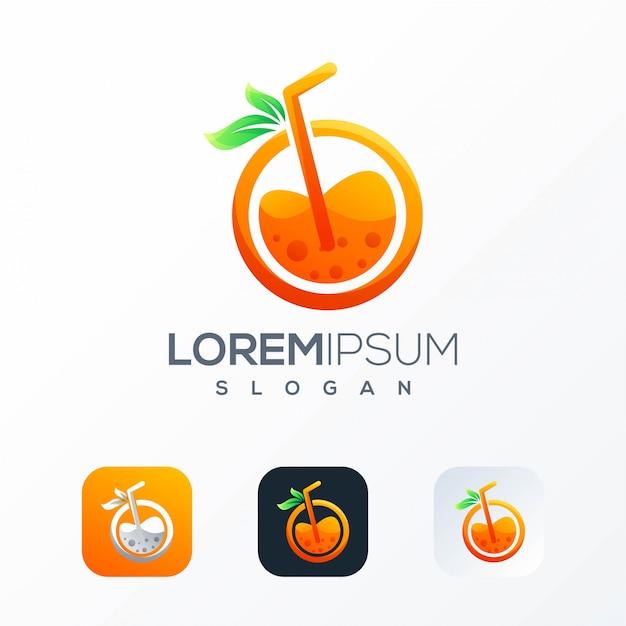 Szablon logo soku pomarańczowego