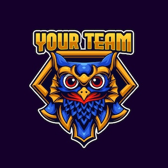 Szablon logo sowa esports