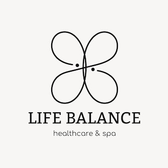 Szablon logo spa, wektor projektu marki zdrowia i odnowy biologicznej, tekst równowagi życia