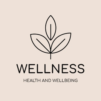 Szablon logo spa, wektor projektu marki zdrowia i odnowy biologicznej, tekst wellness
