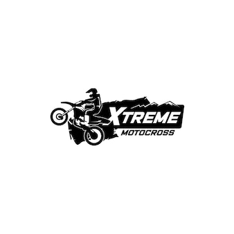 Szablon logo sport motocross. logo odznaka sportowa